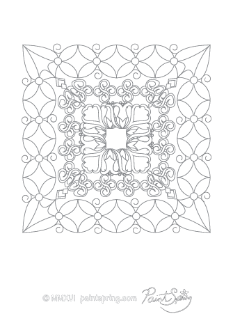 Abstract Adult Coloring Page