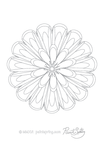 Abstract Flower Adult Coloring Page