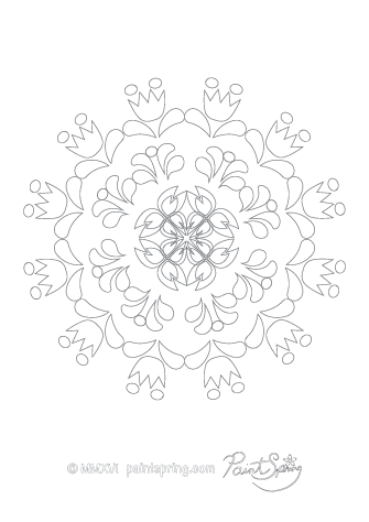 Abstract Pattern Adult Coloring Page