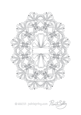 Abstract Patterns Adult Coloring Page