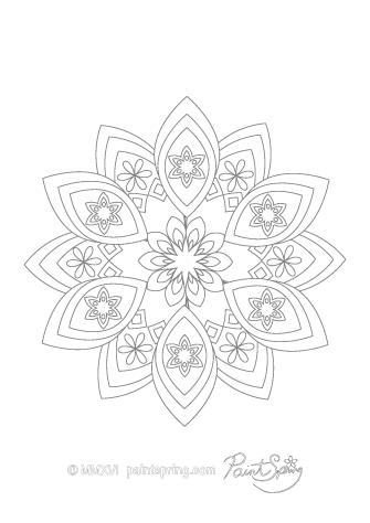Adult Coloring Page Mandala