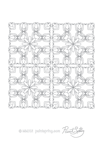 Advanced Abstract Coloring Page