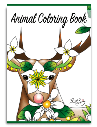 Printable Animal Adult Coloring Book {Get 3 Free Pages}
