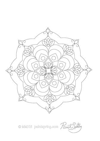 Basic Mandala Coloring Page