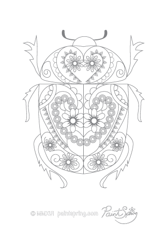 Beetle Adult Coloring Page