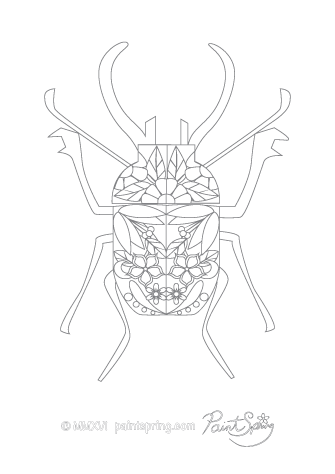 Bug Adult Coloring Page