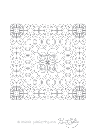 Challenging Abstract Coloring Page