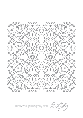 Complex Abstract Coloring Page