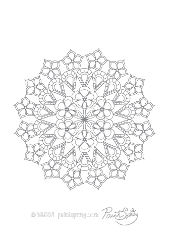 Complex Mandala Coloring Page