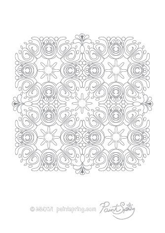 Complicated Abstract Coloring Page