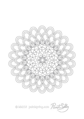 Complicated Mandala Coloring Page
