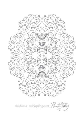 Detailed Abstract Coloring Page