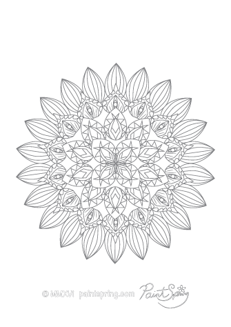 Detailed Mandala Coloring Page