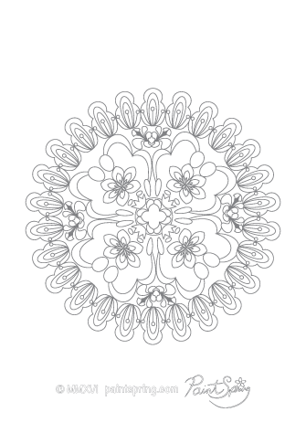 Difficult Mandala Coloring Page
