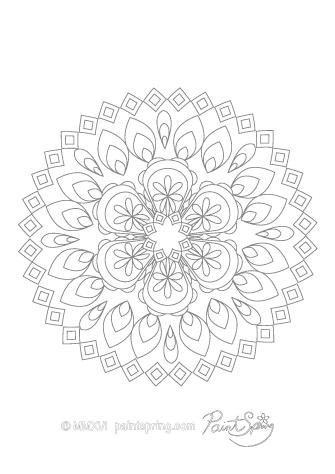 Downloadable Mandala Coloring Page