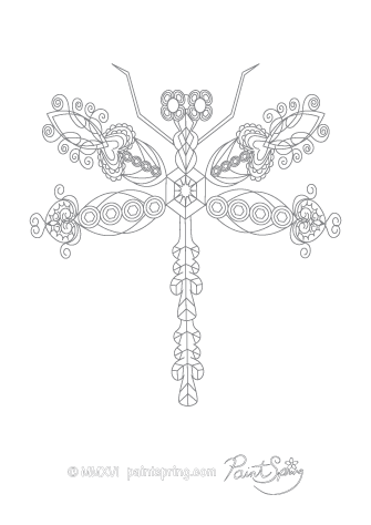 Dragonfly Adult Coloring Page