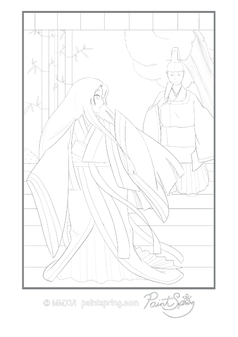 Emperor of Japan Adult Coloring Page