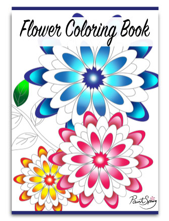 Printable Flower Coloring Book for Adults