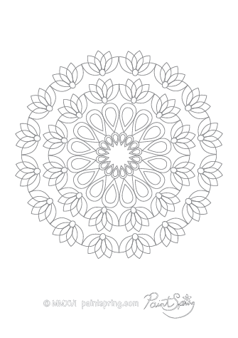 Free Abstract Adult Coloring Page