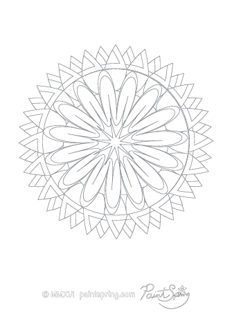 Fun Abstract Adult Coloring Page