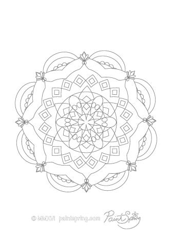 Fun Mandala Coloring Page