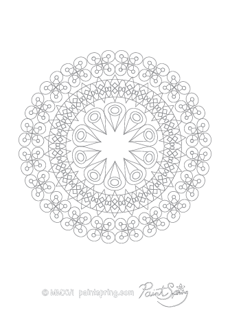 Geometric Abstract Adult Coloring Page