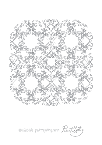 Hard Abstract Adult Coloring Page