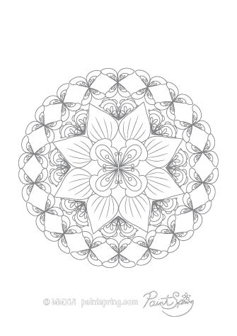 Printable Mandala Coloring Book {Get 3 Free Pages}
