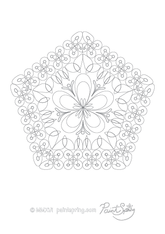 Intricate Abstract Coloring Page