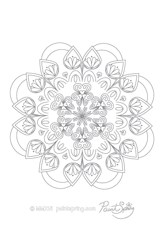 Intricate Mandala Coloring Page
