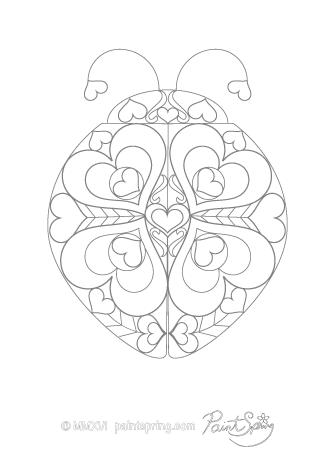 Ladybug Adult Coloring Page