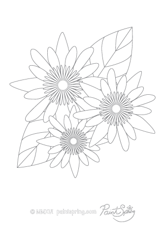 Lotus Flower Adult Coloring Page