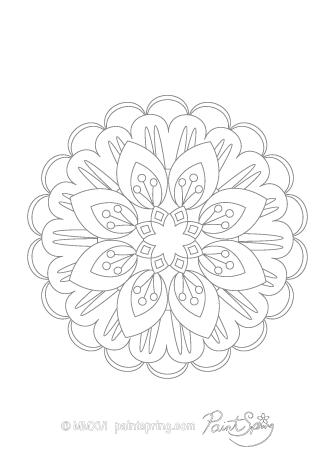 Mandala Adult Coloring Page