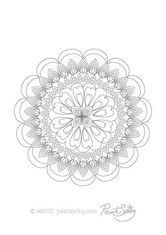 Mandala Art Coloring Page