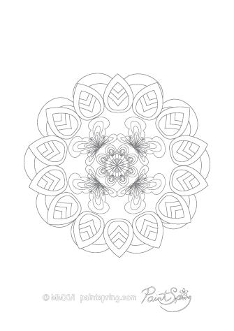 Mandala Design to Color