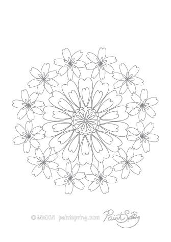 Mandala Patterns Coloring Page