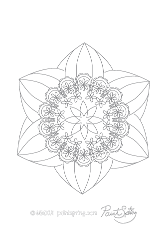 Mandala to Print and Color
