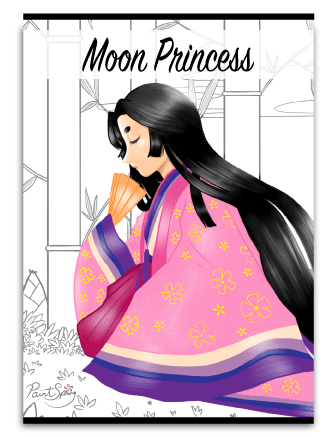 Printable Moon Princess Coloring Book for Adults