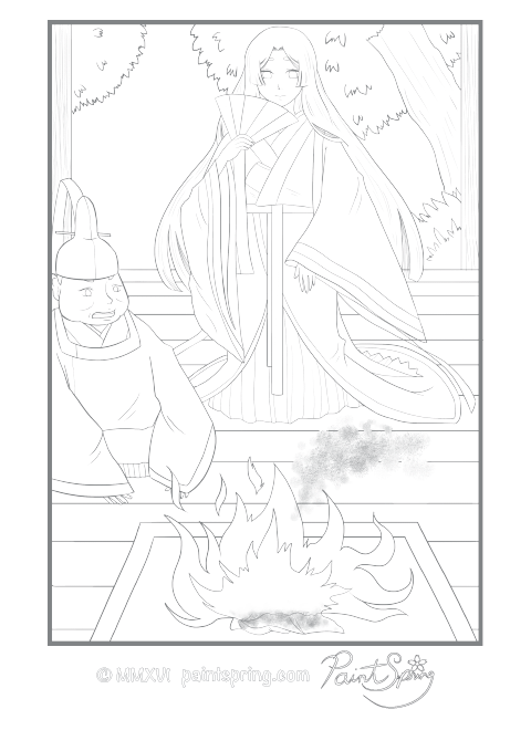 Moon Princess Fire Coloring Page