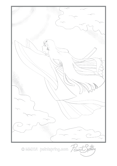 Printable Moon Princess Adult Coloring Book Get 3 Free Pages