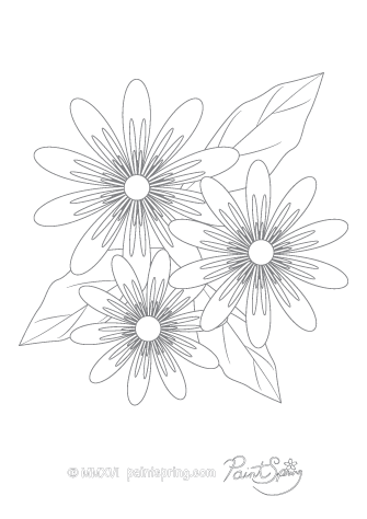 Passion Flowers Adult Coloring Page