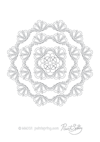 Peaceful Abstract Adult Coloring Page