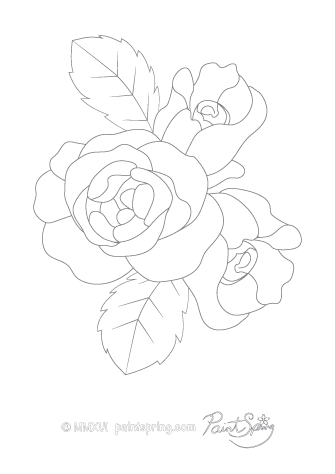 Rose Flower Adult Coloring Page