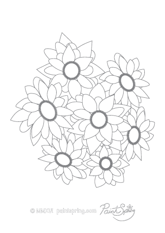 Sicilian Flower Adult Coloring Page