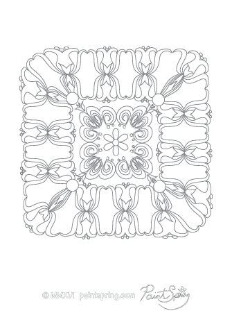 Very Detailed Abstract Coloring Page